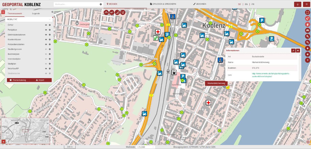 Projekte: GeoPortal Koblenz