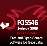 Logo der FOSS4G-Konferenz 2009 in Sydney, Australien