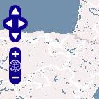 Ausschnitt einer OpenLayers-Anwendung mit den klassischen OpenLayers-Icons