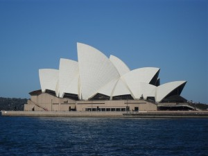 The famous opera in Sydney, Australia