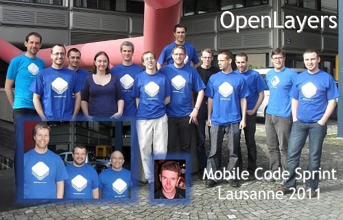 Die Teilnehmer und Organisatoren des Code Sprints