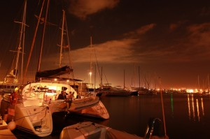 Marina S'Arenal at night