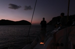 Isla Cabrera after sundown