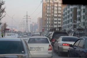 Verkehrschaos in Ulan Bator