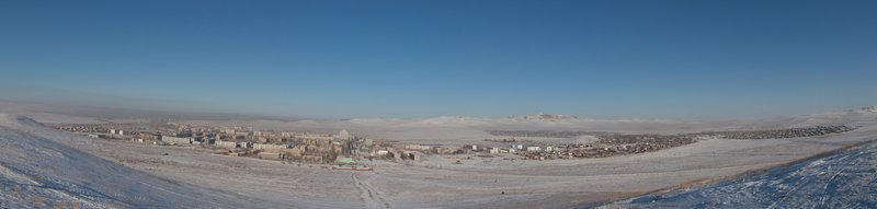 Panorama view of Darkhan.