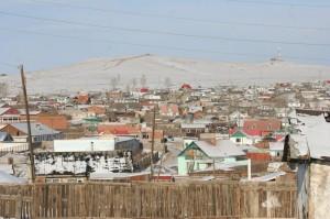 Blick auf einen Stadtteil von Darkhan