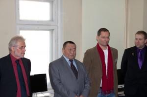 v.l.n.r Dr. h.c. Peter Schaller, Prof. Dr. Lkhanag Dorligsuren, Hinrich Paulsen, Dr. Daniel Karthe