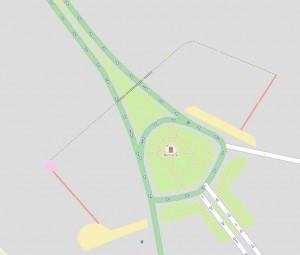 Kreisverkehr in Darkhan nach unserem Workshop