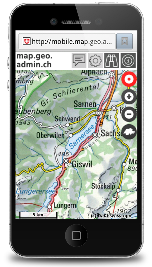 GeoAdmin mobile Screenshot