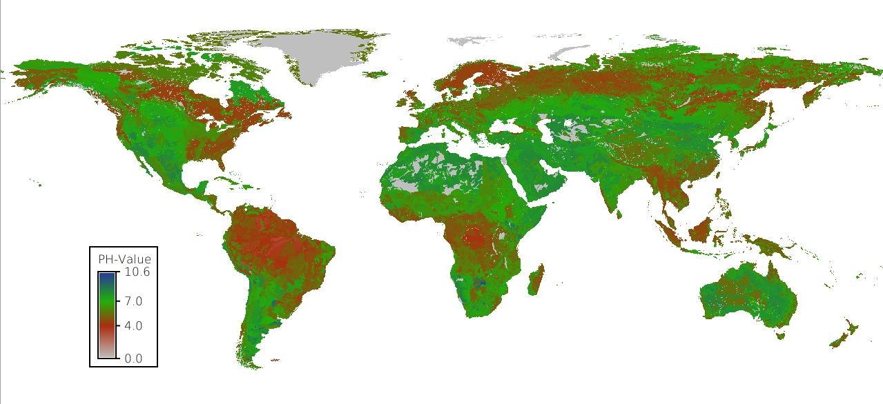 "PH-Wert des Wassers ""harmonized world soil database"""