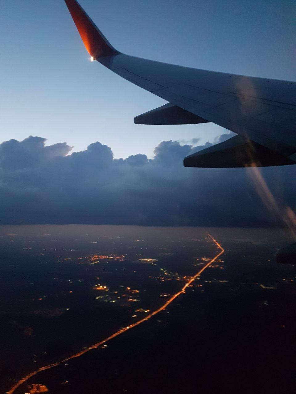Abflug aus Moskau, Russland