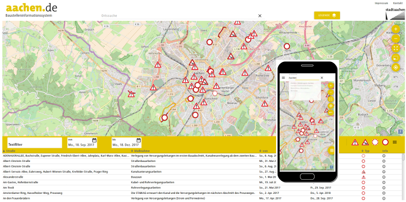 Projekte: Stadt Aachen