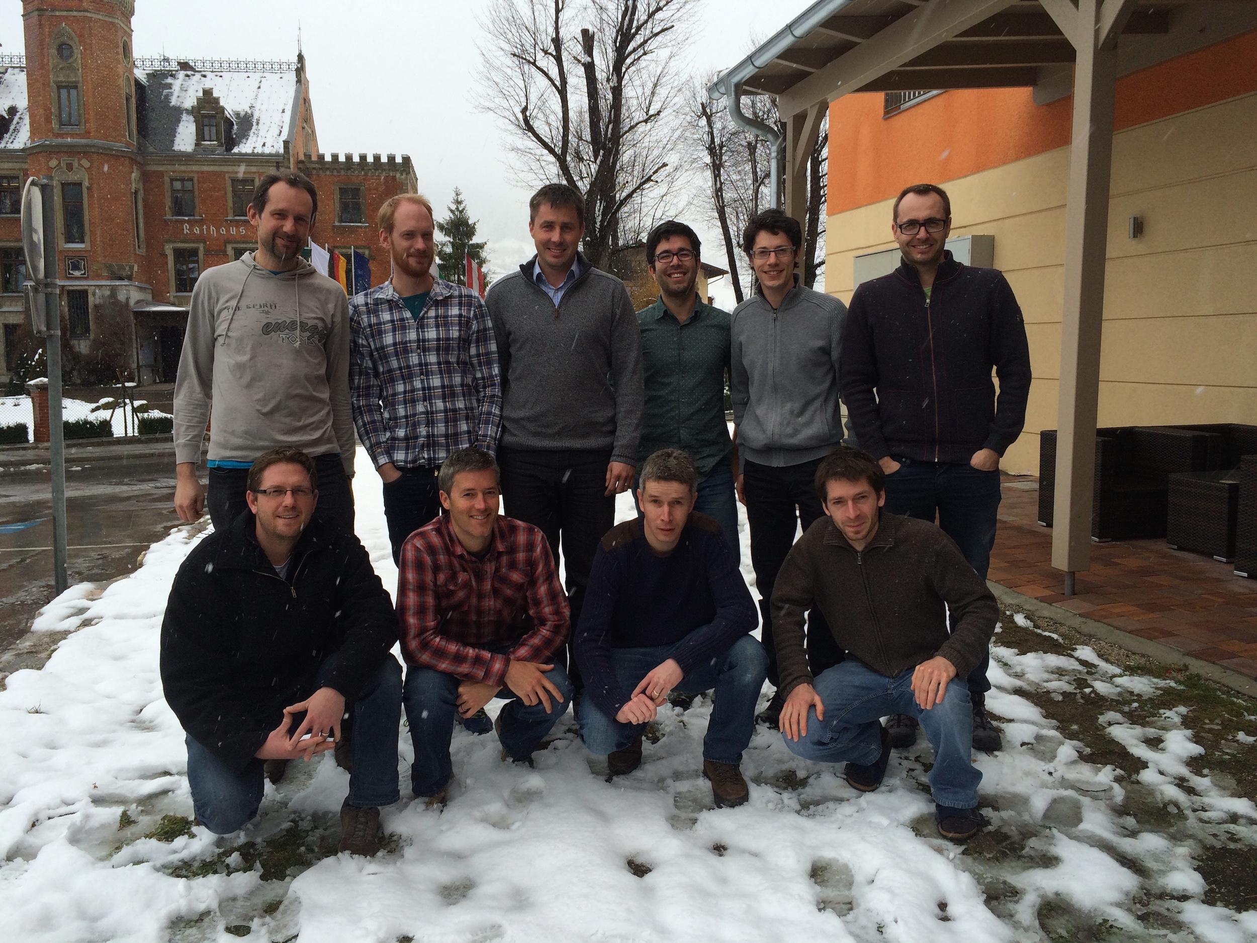 Gruppenfoto der beteiligten Entwickler